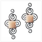 Wrought Iron Swirl Sconces