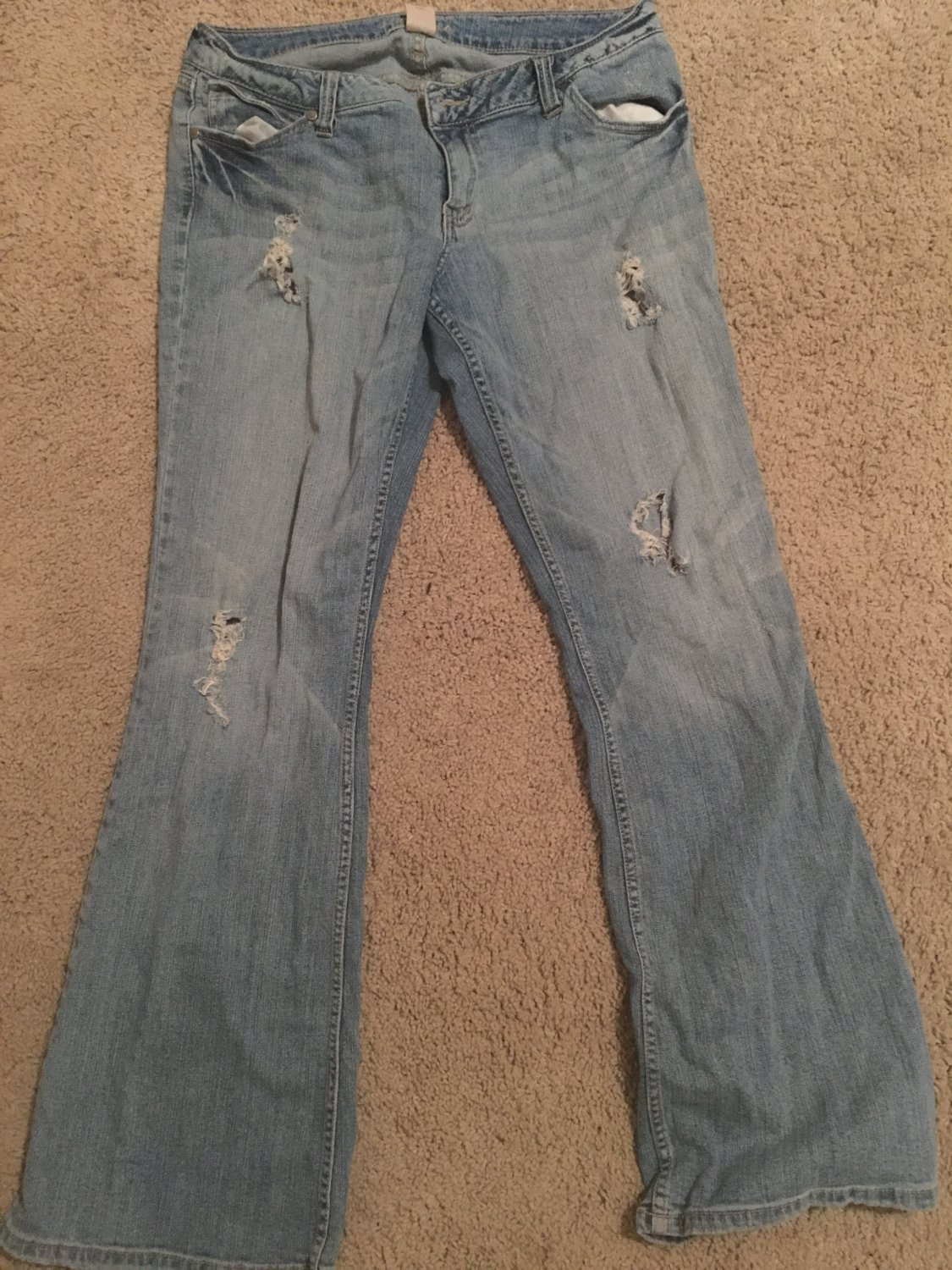 Hand Distressed Ripped Jean Shorts or Pants