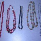 Assortment 6 Costume Bead Necklaces Strands