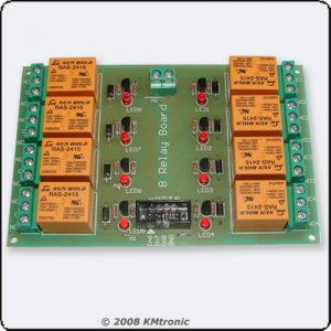 Eight RELAY BOARD ready for your PIC, AVR project - 24V