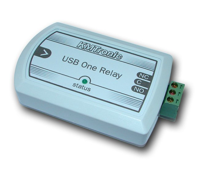 USB Relay Controller One Channel - RS232 Serial controlled