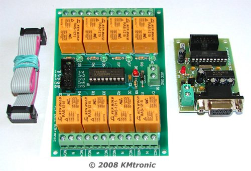 RS232 Serial COM controlled Eight Channel Relay Board