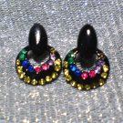 Disco  Crescent Stud Earrings