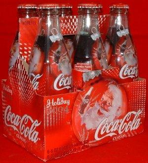 Coca Cola (Coke) Limited Santa Bottles from 2004 6-Pack 8 fl. oz.