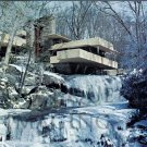 1975 Frank Lloyd Wright's Fallingwater Northwest Elevation Extra Large Postcard FREE SHIPPING