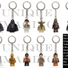 LEGO Star Wars Keychains Eleven (11) Darth Vader, Princess Leia Yoda Chewbacca
