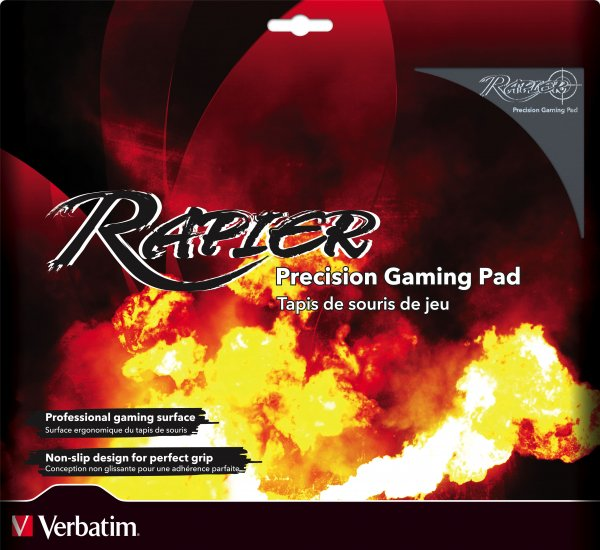 Verbatim Rapier Gaming Mouse Pad (Black)