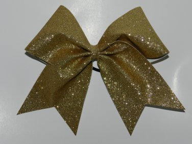 Texas Size  Cheer bow - Gold Glitter