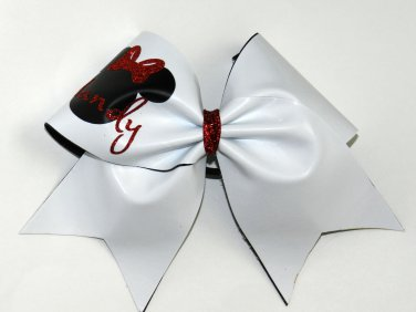 Autograph Cheer Bow - Minnie Mouse personalized