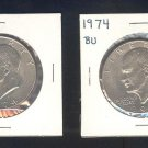 1974 and 74-D IKE $1.00 MS63