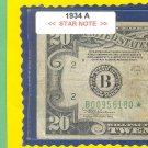 """1934A """" STAR """" $20.00  = B00956180*"""