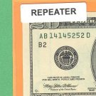 ~ REPEATER ~ $20.00 FRN 1414 5252