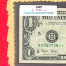 "== Series Key == 2001 "" H "" star note $1.00 FRN"