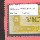 """WWII  """" VICTORY """"  FIVE  Peso"""