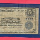 Suffolk , VA . Series 1902  $5.00 National