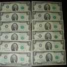 Complete Set  ( 12 )  Series 1976  $2.00 Bills = A thru L districts