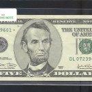 """2003 """" L """" STAR $5.00 FRN"""