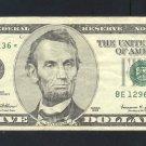 "1999 "" E "" STAR $5.00 FRN"