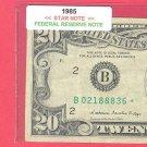 "1985 "" B "" STAR $20.00 = B02188836*"