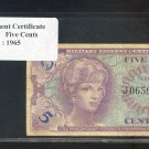 Series 641 ~~ .05 Cents ~~ MPC
