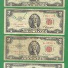 Red $2.00 set .. 1953, 53a, 53b, 53c