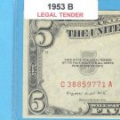 1953b $5.00 Red Seal ....