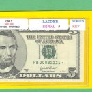 "== Series Key == Ladder "" B "" star note $5.00 FRN"