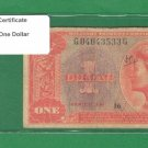 Series 591 ~~ $1.00 ~~~ Military Payment Certificate