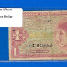 Series 641 ~~ $1.00 ~~~ Military Payment Certificate