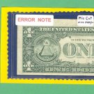 $1.00 === ERROR NOTE=== WIDE margin = G13745092H