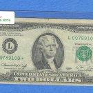 """1976 """" L """" STAR $2.00 FRN = L00789100*"""