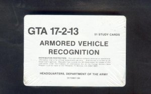 Armored Vehicle ~~ Recognition Cards ~~ ARMY 1984
