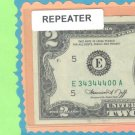 ~ REPEATER ~ $2.00 FRN 3434 4400