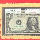 Series 1988a   Rare ==K-C block == DC variety