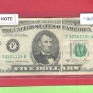 $5.00 FRN Gutter Fold = ERROR = 1981A