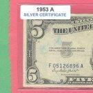 1953a $5 SILVER certificate