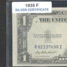 1935f = $1.00 = SILVER certificate