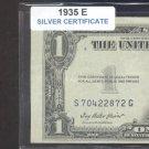 1935e = $1.00 = SILVER certificate