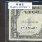 1935d = $1.00 = SILVER certificate