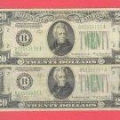 ( 2 ) $20 FRN's ~~ Series 1934a ~~ Nice .....