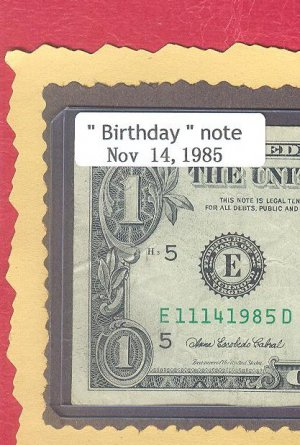 ~~ Birthday note ~~ == Nov 14, 1985 ==  cool note