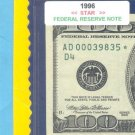"== Series Key == 1996 "" D "" star note $100.00 FRN"