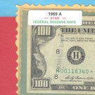 "== Series Key == 1969a "" H "" star note $100.00 FRN"