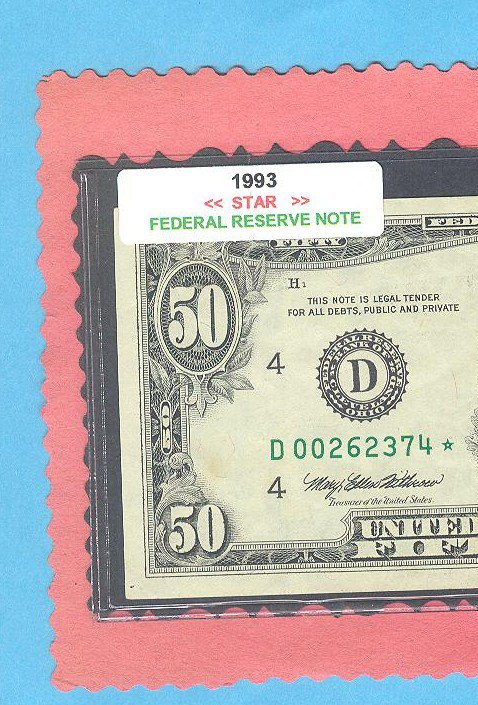 "== Series Key == 1993 "" D "" star note $50.00 = D00262374*"