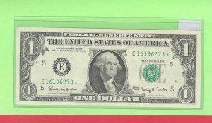 """1963a """" E """" STAR $1.00 FRN ( Richmond, VA )"""
