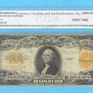 $20 1922 GOLD certificate  CGA  VF-20