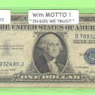 1935g = $1.00 = with MOTTO =SILVER certificate