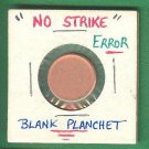 Blank planchet One Cent