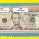 "== Series Key == 2006 "" L  "" star note $5.00 FRN  IL00030621*"