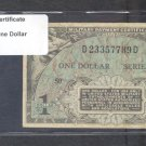 Series 481 ~~ $1.00 ~~~ Military Payment Certificate